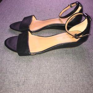 J. Crew Shoes - J.Crew Hadley ankle flat strap sandals size 7 1/2